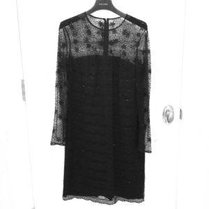 Escada beaded black evening dress